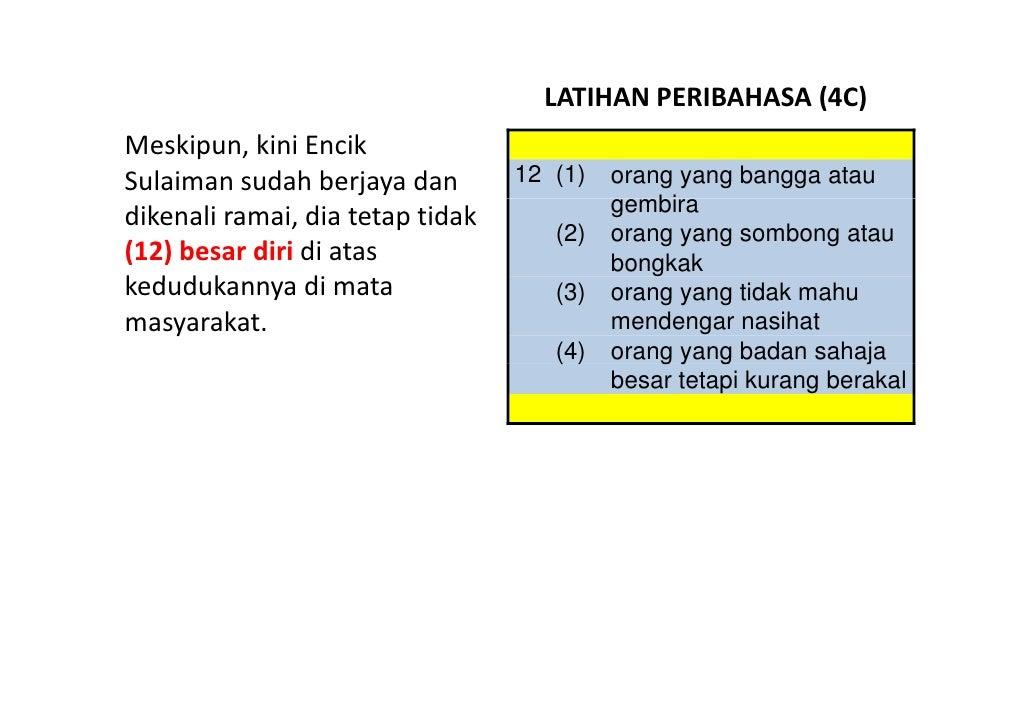 LATIHANPERIBAHASA(4C) Meskipun,kiniEncik Sulaimansudahberjayadan       12 (1)   orang yang bangga atau           ...