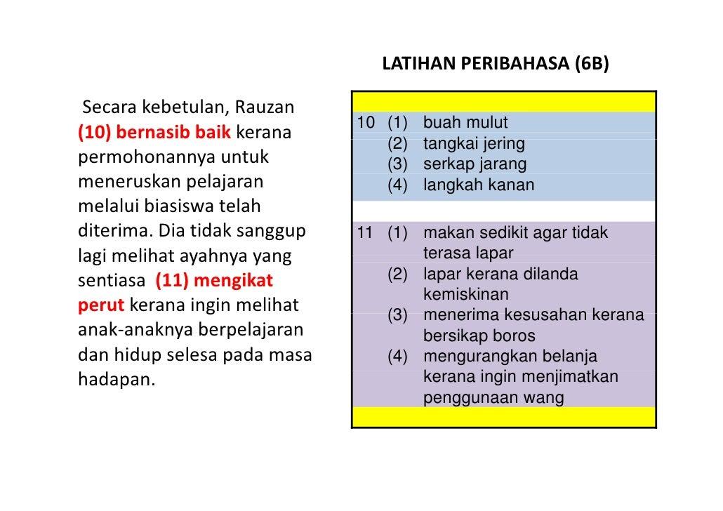 LATIHAN BAHASA MELAYU PSLE - PERIBAHASA 06 Slide 3