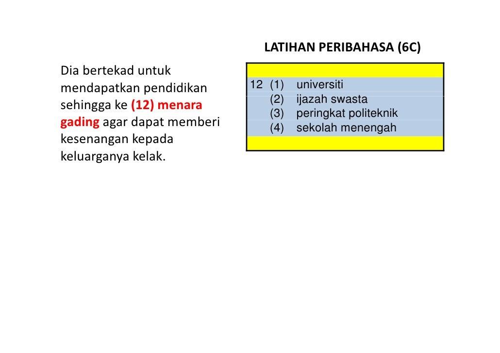 LATIHANPERIBAHASA(6C) Diabertekaduntuk mendapatkanpendidikan      12 (1)   universiti                              ...