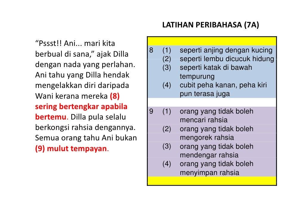 LATIHAN BAHASA MELAYU PSLE - PERIBAHASA 07 Slide 2