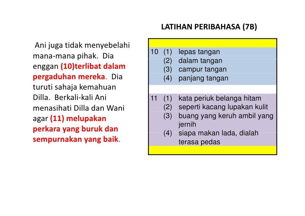 LATIHAN BAHASA MELAYU PSLE - PERIBAHASA 07 Slide 3