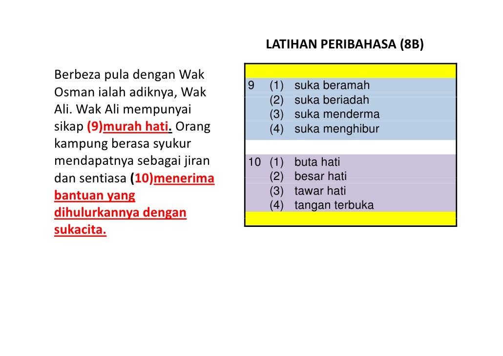 LATIHAN BAHASA MELAYU PSLE - PERIBAHASA 08 Slide 3