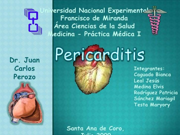 Universidad Nacional Experimental <br />Francisco de Miranda<br />Área Ciencias de la Salud<br />Medicina - Práctica Médic...