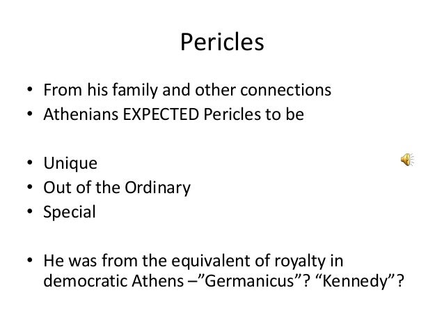 pericles role in developing democracy