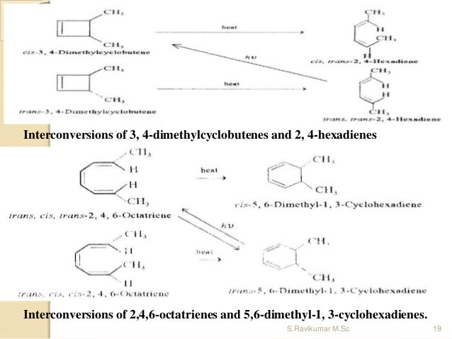 Interconversions of 3, 4-dimethylcyclobutenes and 2, 4-hexadienes Interconversions of 2,4,6-octatrienes and 5,6-dimethyl-1...