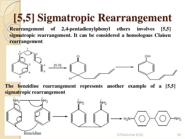 [5,5] Sigmatropic Rearrangement Rearrangement of 2,4-pentadienylphenyl ethers involves [5,5] sigmatropic rearrangement. It...