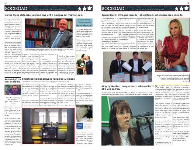 l4  l5  SOCIEDAD  SOCIEDAD  Lima,23 de Septiembre del 2013// El Antagonista  Carlos Bruce defendió la unión civil entre pa...