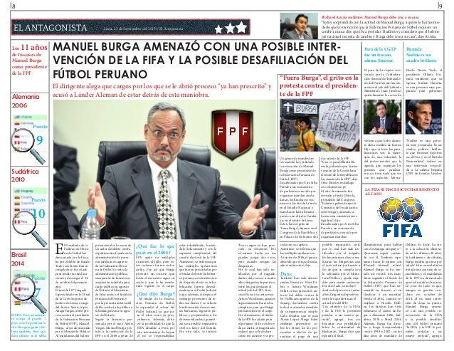 l8  l9  EL ANTAGONISTA 11 años  Los de fracasos de Manuel Burga como presidente de la FPF  Alemania 2006  Richard Acuña re...