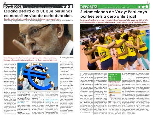 l10  ECONOMÍA  l11 Lima,23 de Septiembre del 2013// El Antagonista  España pedirá a la UE que peruanos no necesiten visa d...