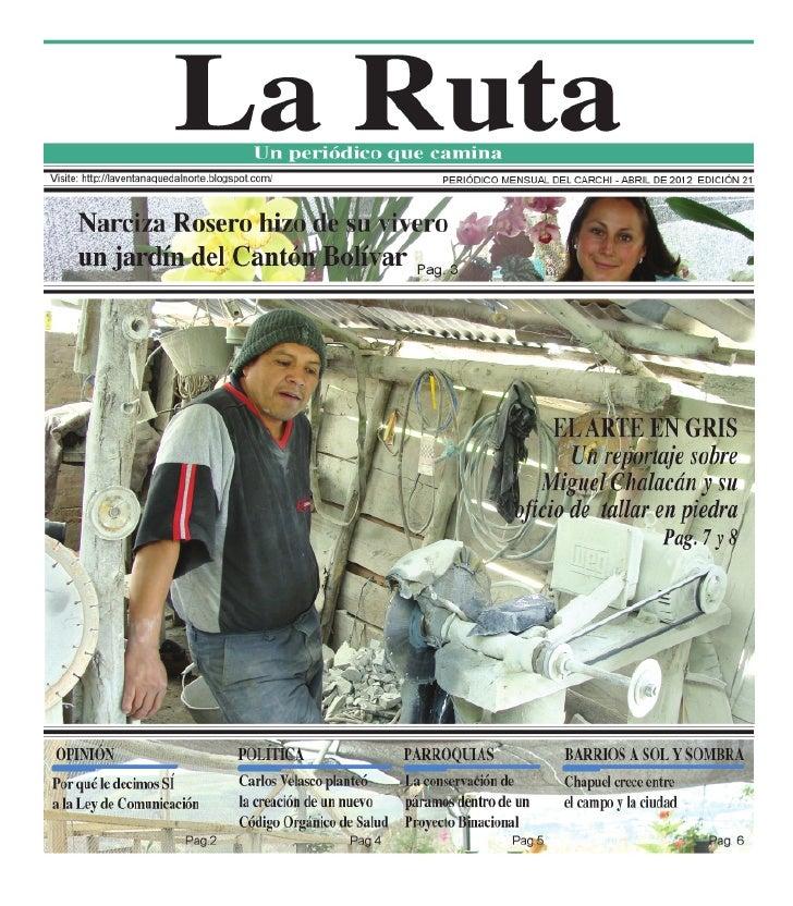 Periódico la ruta , edición abril