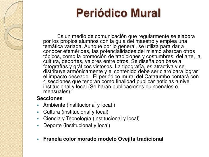 Peri dico mural catatumbo for Contenido de un periodico mural