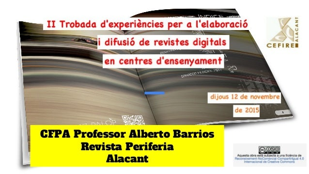 CFPA Professor Alberto Barrios Revista Periferia Alacant
