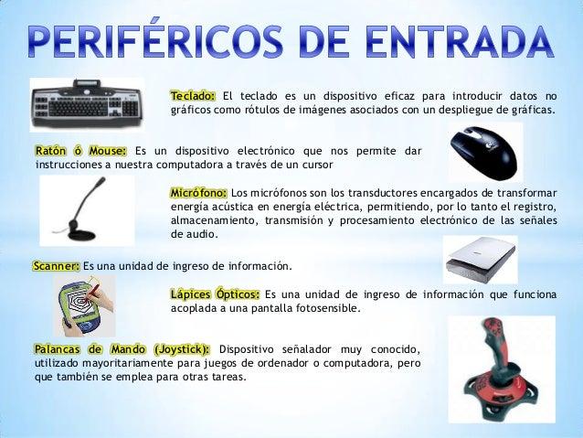 Perifericos de entrada salida y almacenamiento for Funcion de salida