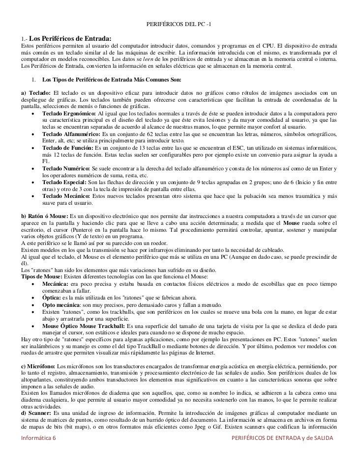 PERIFÉRICOS DEL PC -11.- Los Periféricos de Entrada:Estos periféricos permiten al usuario del computador introducir datos,...