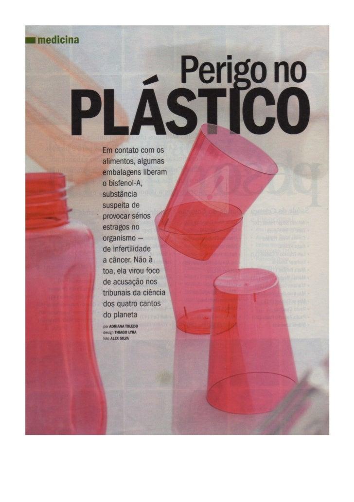 Perigo no plástico
