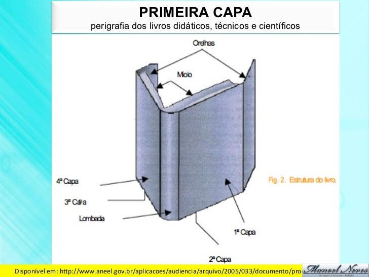 PRIMEIRA CAPA                         perigrafia dos livros didáticos, técnicos e científicosDisponível em: hdp://www....