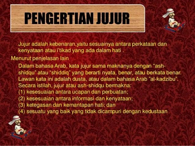 Perilaku jujur (agama Islam) kelas X