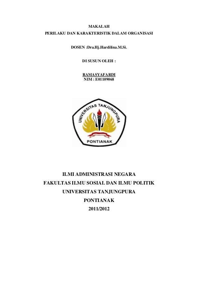 Perilaku organisasi(makalah)