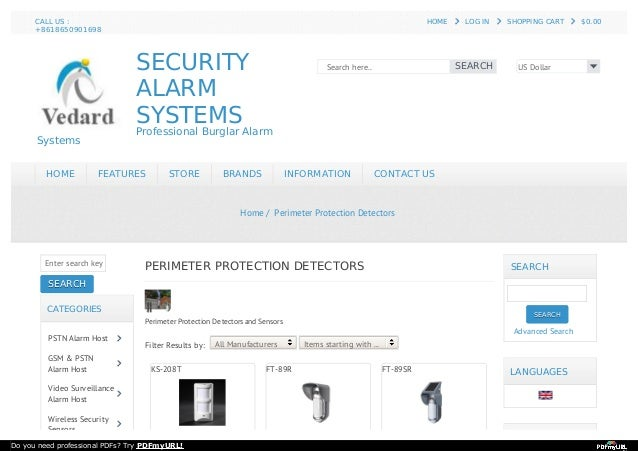 SECURITY ALARM SYSTEMS Professional Burglar Alarm Systems US Dollar Search here.. SEARCH HOME HOME FEATURES FEATURES STORE...