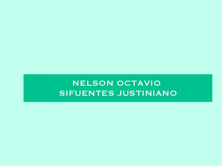 NELSON OCTAVIO  SIFUENTES JUSTINIANO