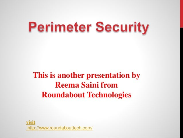 This is another presentation by  Reema Saini from  Roundabout Technologies  visit  http://www.roundabouttech.com/