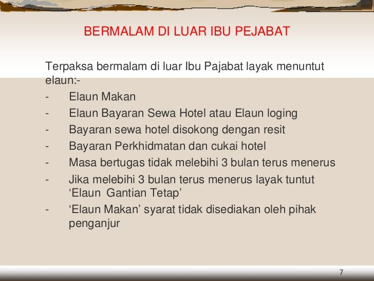 Perintah Am Bab B Elaun Dlm Prkhdmatan