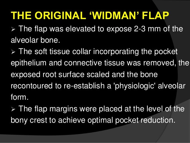 Widman flap descriptive essay