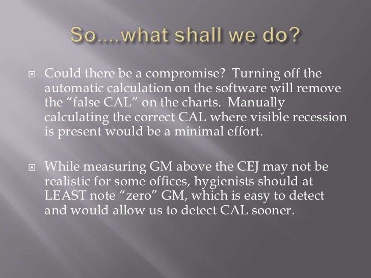 """   Could there be a compromise? Turning off the    automatic calculation on the software will remove    the """"false CAL"""" o..."""