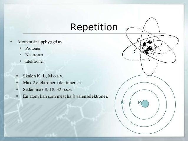 Periodiska systemt och atomer