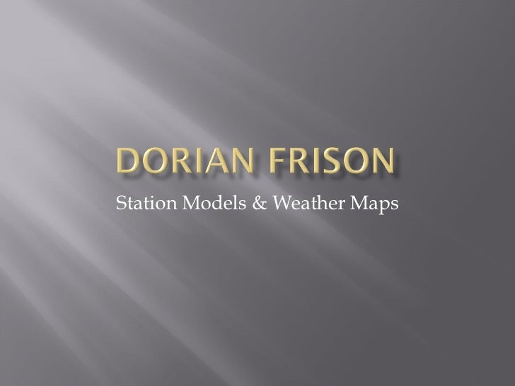 Station Models & Weather Maps