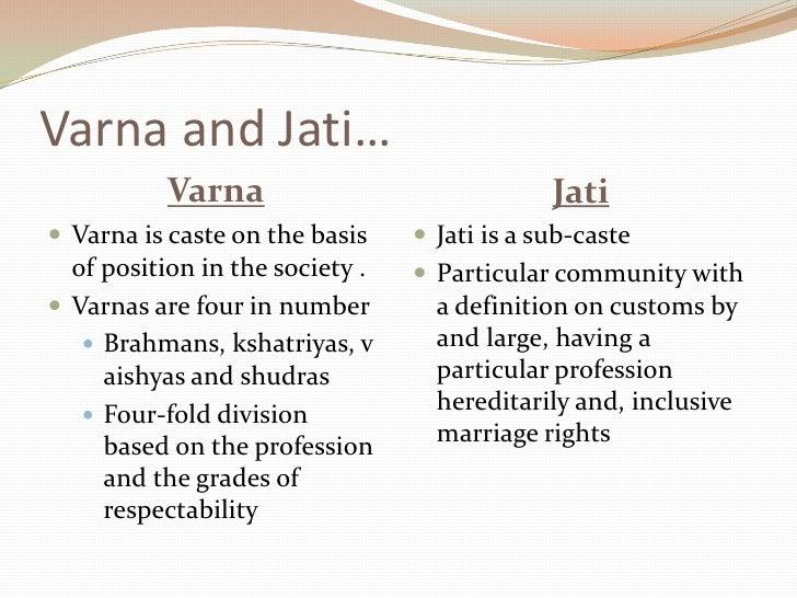 varna and jati system