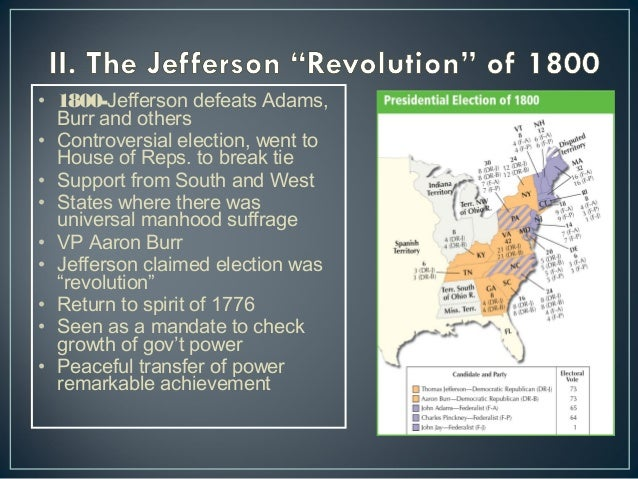 apush revolution of 1800 Ap us history study guides developed by 1800-1848 • these study guides were designed to help teachers create an accessible survey of us history that.