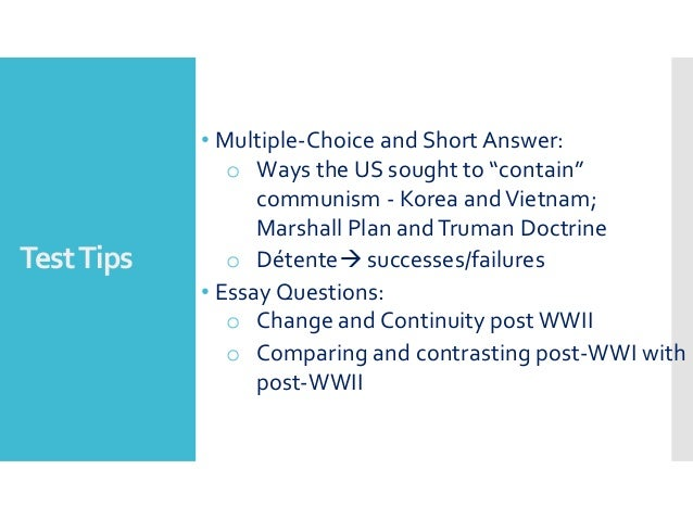 compare and contrast wwi wwii essay Wwi and wwii can be compared in terms of causes, sides involved, main fronts or theatres of war, military operations, weapons/warfare, basis for peace, and global effects.