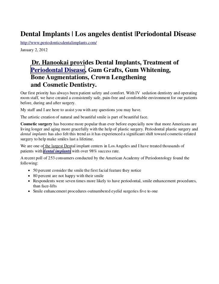 Dental Implants | Los angeles dentist |Periodontal Diseasehttp://www.periodonticsdentalimplants.com/January 2, 2012      D...