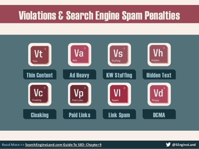 Violations & Search Engine Spam Penalties Read More >> SearchEngineLand.com Guide To SEO: Chapter 9 Thin Content Ad Heavy ...