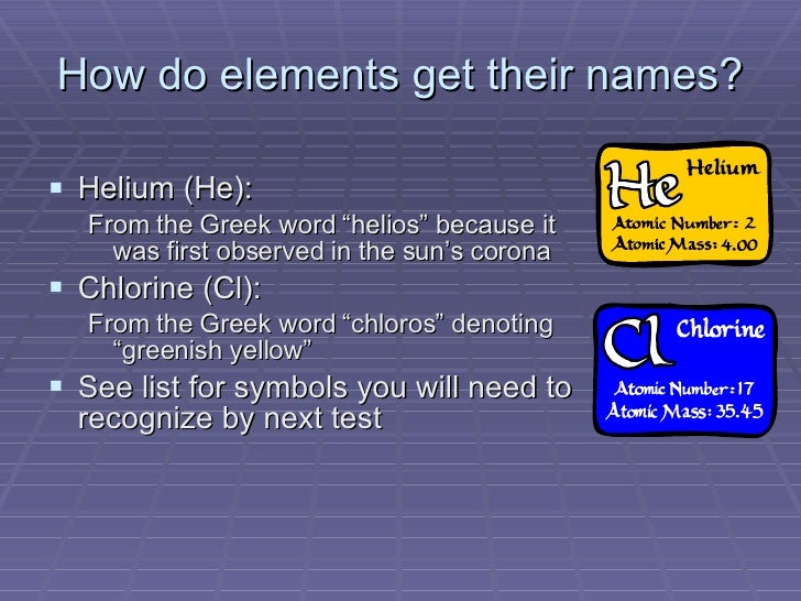 3 how do elements get their names - Periodic Table Of Elements Greek Names