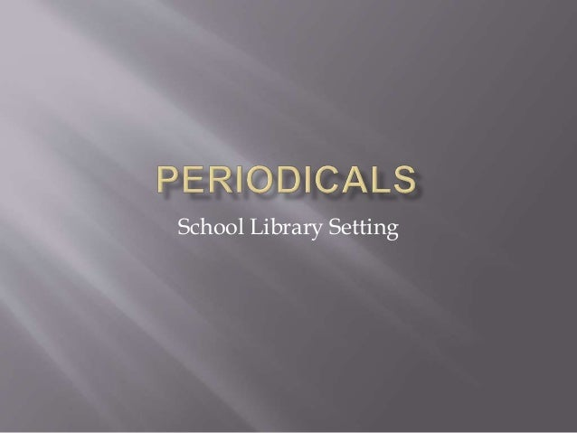 School Library Setting