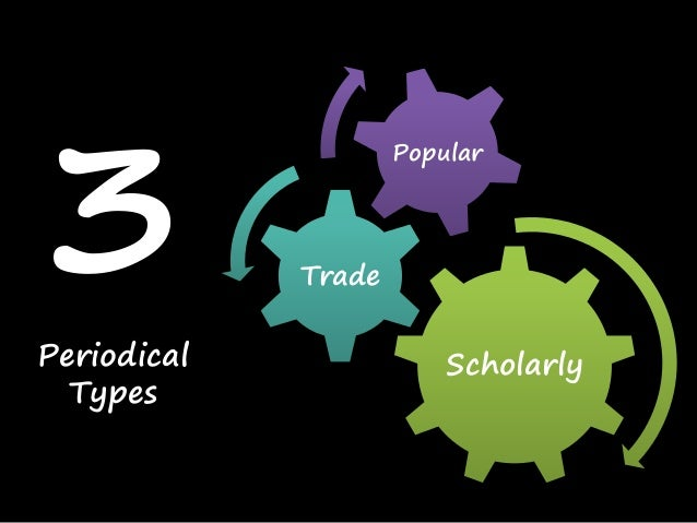 Scholarly Trade Popular 3Periodical Types