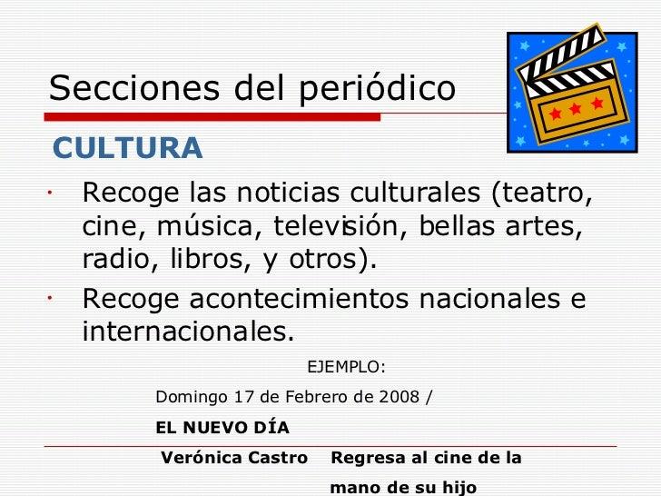 Periodico for Cuales son las partes de un periodico mural