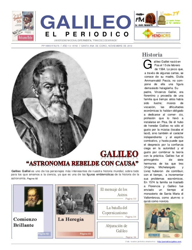 GALILEO                         E L             P E R I O D I C O                                UNIVERSIDAD NACIONAL EXPE...