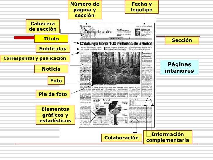 Periodico datos tecnicos for Componentes de un periodico mural