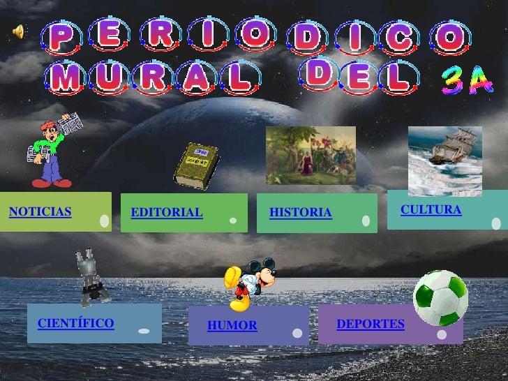 Periodico mural for Cuales son las partes de un periodico mural