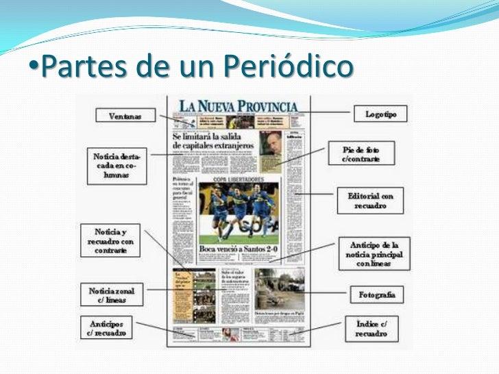 Periodico 2011 for Cuales son las partes del periodico mural