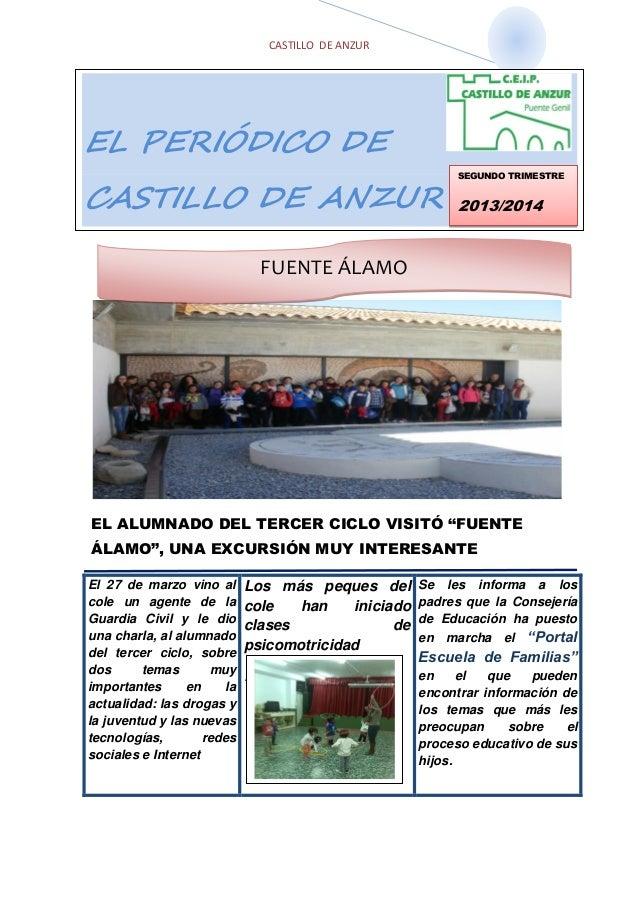 """CASTILLO DE ANZUR ÇÇÇÇÇÇ EL ALUMNADO DEL TERCER CICLO VISITÓ """"FUENTE ÁLAMO"""", UNA EXCURSIÓN MUY INTERESANTE El 27 de marzo ..."""