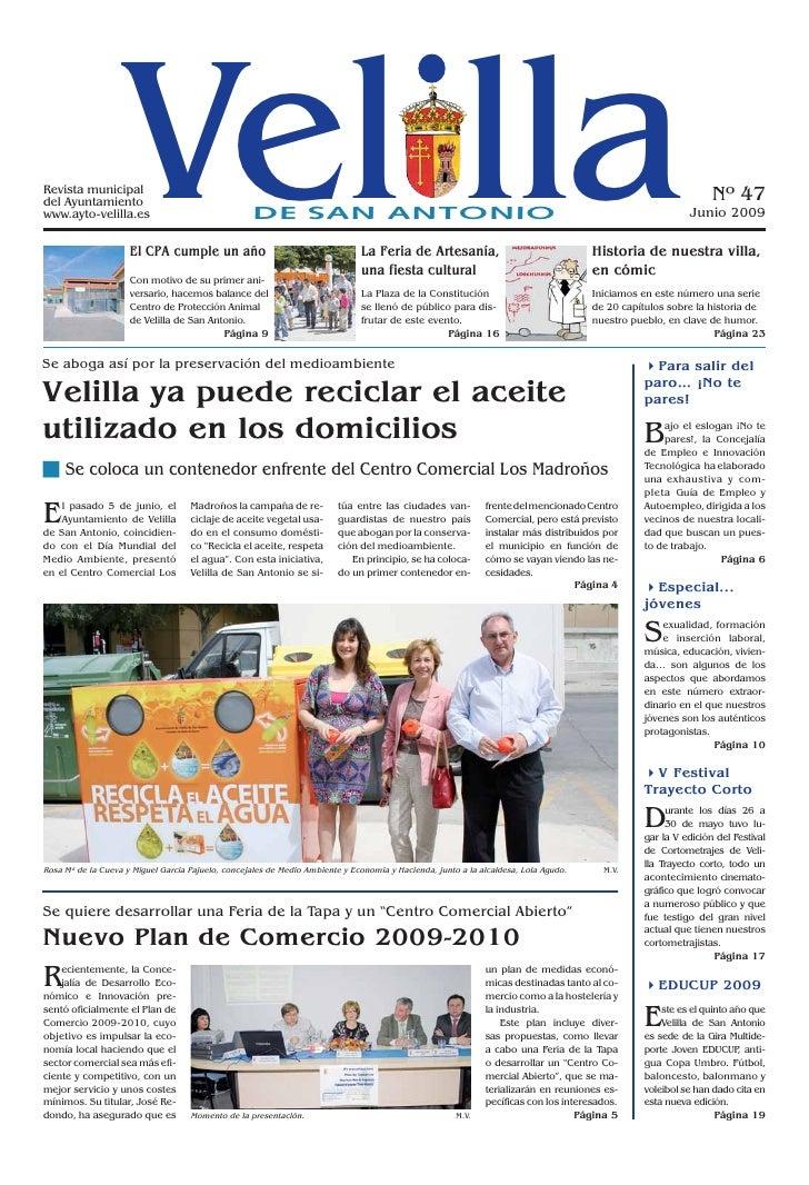 Revista municipal del Ayuntamiento www.ayto-velilla.es                     Vel lla                      El CPA cumple un a...