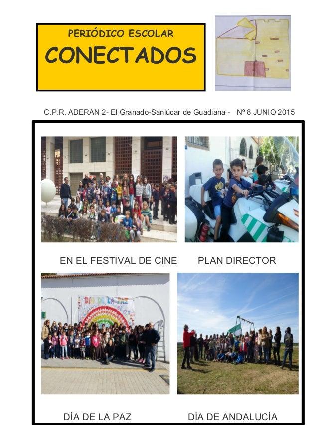 PERIÓDICO ESCOLAR CONECTADOS C.P.R. ADERAN 2- El Granado-Sanlúcar de Guadiana - Nº 8 JUNIO 2015 EN EL FESTIVAL DE CINE PLA...