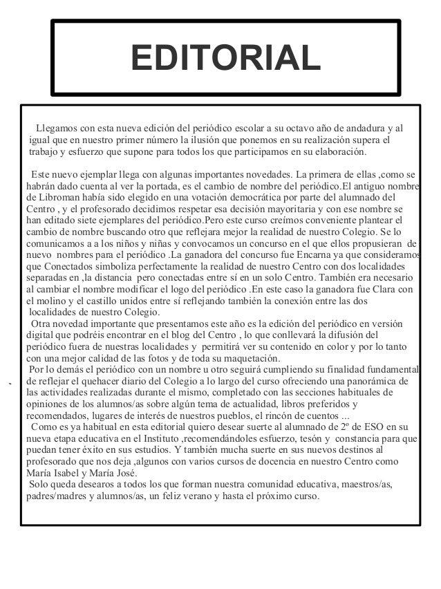 Ejemplo de editorial ejemplo de editorial de un periodico for Editorial de un periodico mural