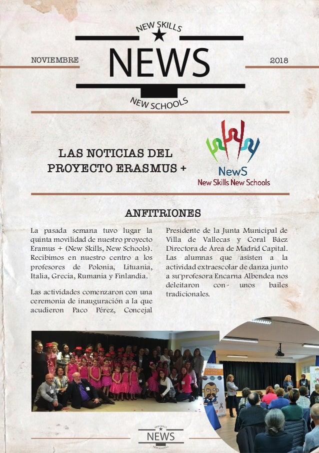 2018NOVIEMBRE LAS NOTICIAS DEL PROYECTO ERASMUS + ANFITRIONES La pasada semana tuvo lugar la quinta movilidad de nuestro p...