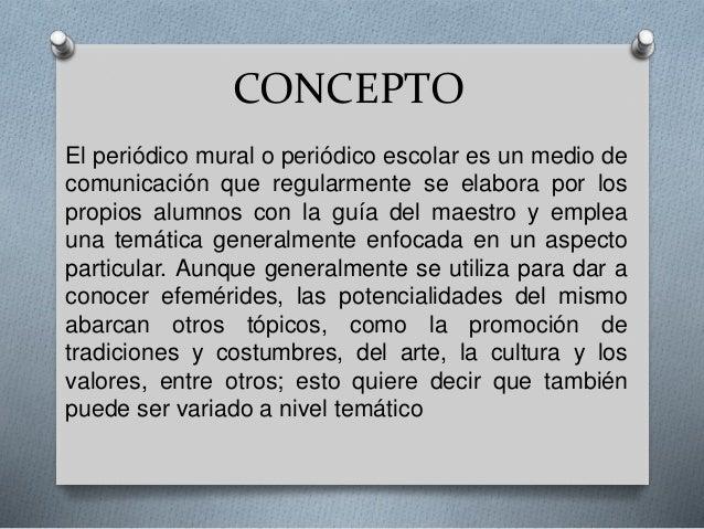 Periodico escolar for Concepto de periodico mural