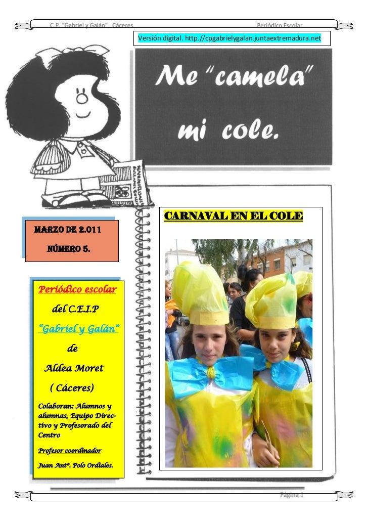 Versión digital. http.//cpgabrielygalan.juntaextremadura.net                                    CARNAVAL EN EL COLEMARZO D...